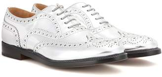 Church's Burwood metallic leather brogues