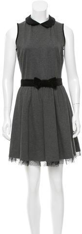 RED ValentinoRed Valentino Velvet-Accented Mini Dress