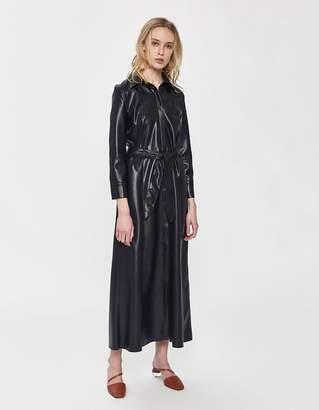 Nanushka Taurus Vegan Leather Shirt Dress
