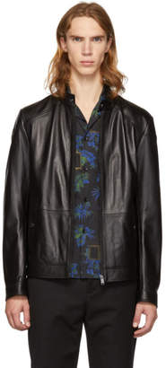 BOSS Black Leather Nocan Jacket