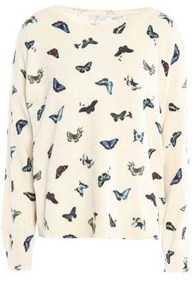 Joie Printed Cotton And Cashmere-Blend Top