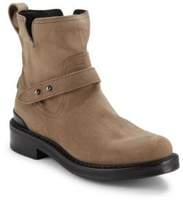 Ashford Leather Moto Ankle Boots $595 thestylecure.com