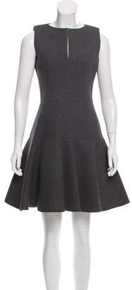 Paule Ka Sleeveless Fluted Dress