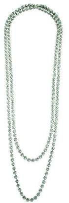 Tom Binns Extra-Long Crystal Chain Necklace