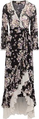 By Ti Mo Bytimo Ruffled Floral-print Fil Coupe Georgette Maxi Wrap Dress