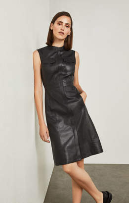 BCBGMAXAZRIA Allexandria Faux-Leather Dress