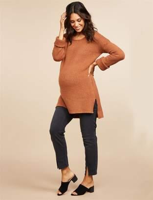 Motherhood Maternity Secret Fit Belly Split Hem Straight Leg Maternity Ankle Jeans