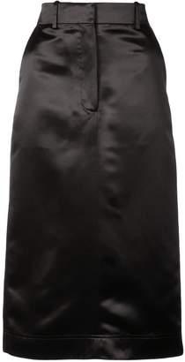 Calvin Klein satin tailored skirt