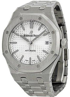 Audemars Piguet ロイヤルオーク自動シルバーダイヤルステンレス鋼ユニセックス時計15450st。Oo。1256st。01