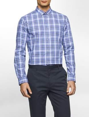 Calvin Klein slim fit infinite cool twill plaid shirt