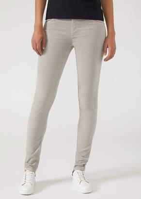 Emporio Armani Trousers In Stretch Needlecord