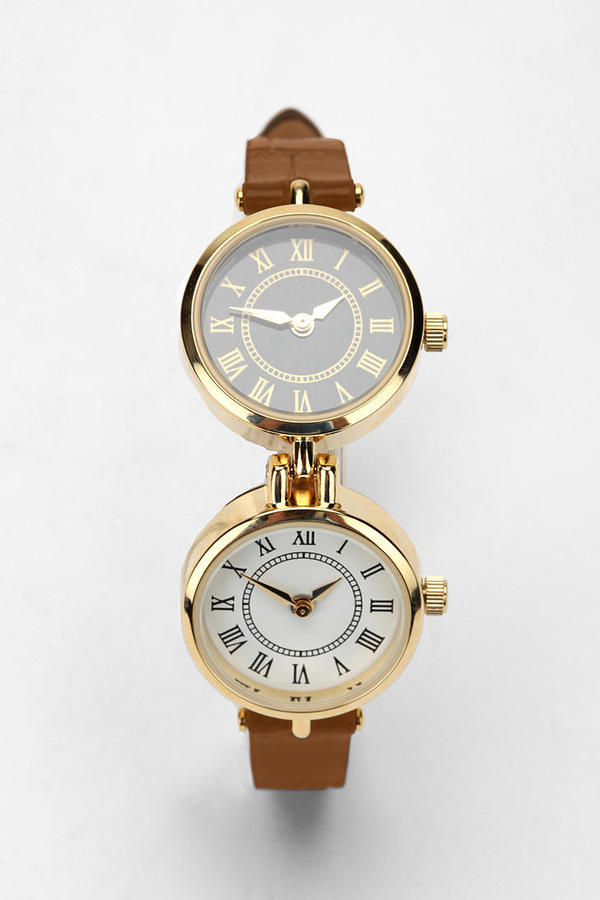 Urban Outfitters Double Case Leather Watch