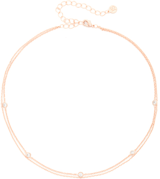 Jules Smith Crimson Chain Choker Necklace $45 thestylecure.com