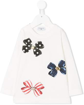 MonnaLisa bow detail T-shirt