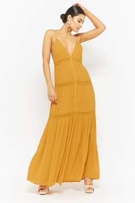 Forever 21 Lace Trim Maxi Dress