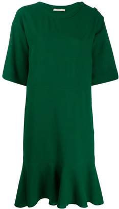 Odeeh pleated shift dress