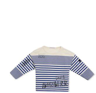 Burberry SW1 Print Striped Cotton Top
