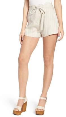 Moon River Scallop Waist Linen Shorts