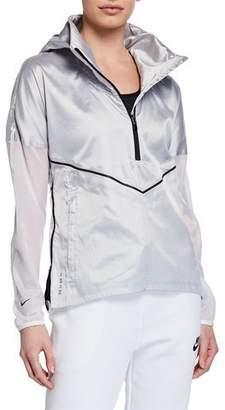 Nike Metallic Hooded Running Jacket