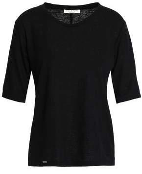Halston Slub Linen-Blend Jersey T-Shirt