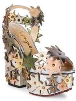 Charlotte Olympia Supernova Leather Platform Sandals