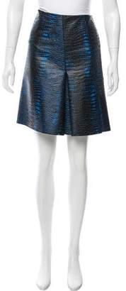 Reed Krakoff Embroidered Pleated Skirt