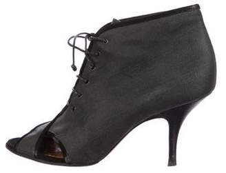 Givenchy Peep-Toe Lace-Up Ankle Boots