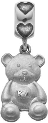 LogoArt Sterling Silver Kappa Delta Sorority Teddy Bear Charm