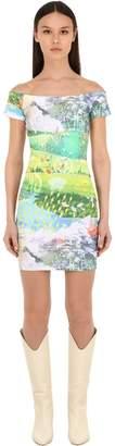 GUESS X J Balvin Vibras Collection Printed Cotton Jersey Mini Dress