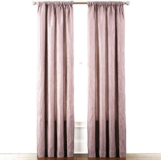 Liz Claiborne Gallery Pleated Taffeta Rod-Pocket Curtain Panel