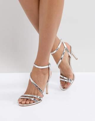 Faith Delly Silver Heeled Sandals