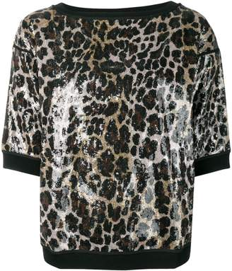 Antonio Marras leopard print vinyl T-shirt