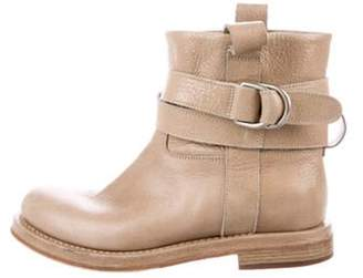 Brunello Cucinelli Leather Ankle Boots Tan Leather Ankle Boots