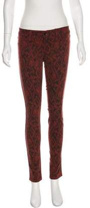 Level 99 Mid-Rise Printed Jeans