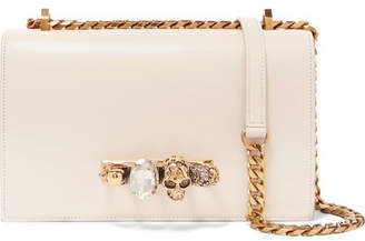 Alexander McQueen Jewelled Satchel Crystal-embellished Leather Shoulder Bag