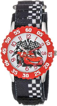 Disney Boy's 'Cars' Quartz Stainless Steel and Nylon Casual Watch, Color: (Model: WDS000028)