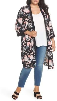 Evans Floral Kimono