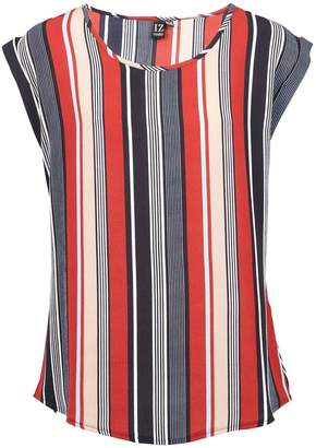 Dorothy Perkins Womens *Izabel London Red Striped Boxy T