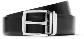 Burberry 3.5cm Black and Dark-Brown Reversible Leather Belt - Men - Black