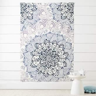 Pottery Barn Teen Floral Mandala Tapestry, Floral Mandala Tapestry