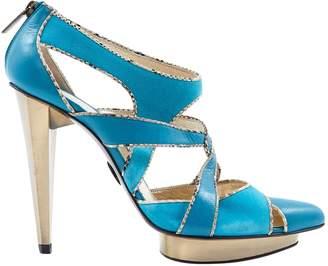 Lara Bohinc Turquoise Suede Heels
