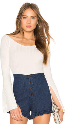 BCBGMAXAZRIA Zoee Off Shoulder Sweater