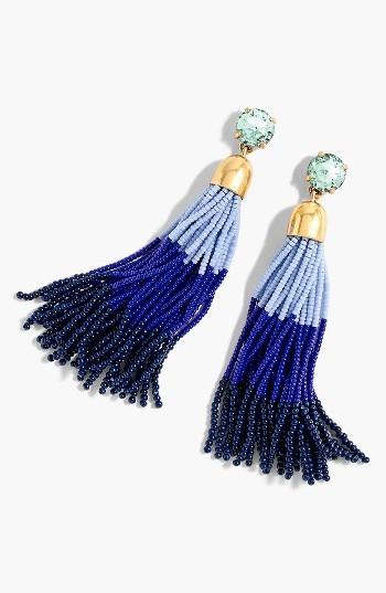 Women's J.crew Colorblock Bead Tassel Earrings