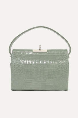 Gu_de - Milky Croc-effect Leather Tote - Gray green