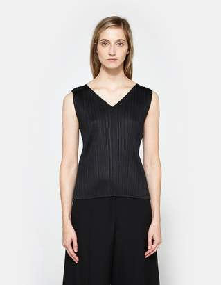 Pleats Please Issey Miyake Tank in Black