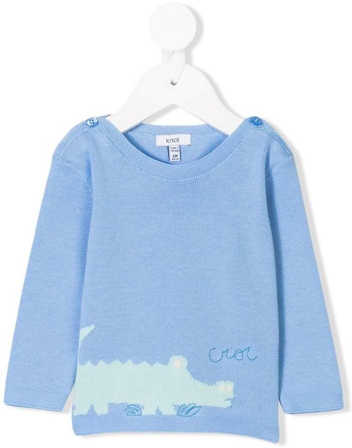 Knot crocodile sweater