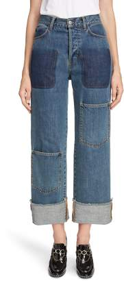 J.W.Anderson Shaded Pocket Wide Leg Ankle Jeans