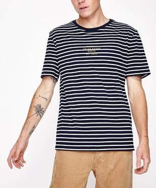 rhythm Harry Stripe Short Sleeve T-shirt Navy