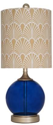 Jalexander Lighting Blue Glass Table Lamp