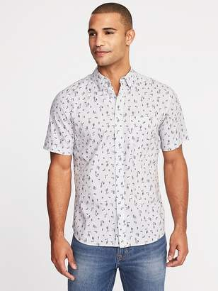 Old Navy Slim-Fit Printed Built-In Flex Getaway Shirt for Men